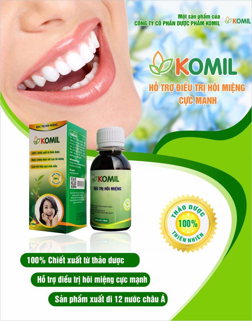 cách sử dụng thuốc điều trị hôi miệng Komil