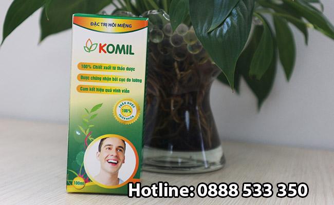 tác dụng phụ thuốc Hôi miệng Komil