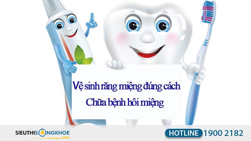 chữa hôi miệng bằng vệ sinh răng miệng